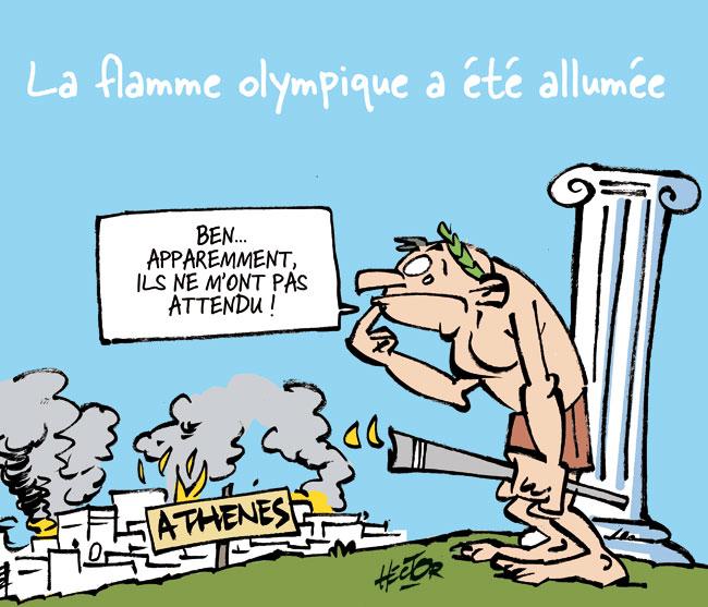 Olympique le blog de r gis hector dessinateur de bd - Flamme olympique dessin ...