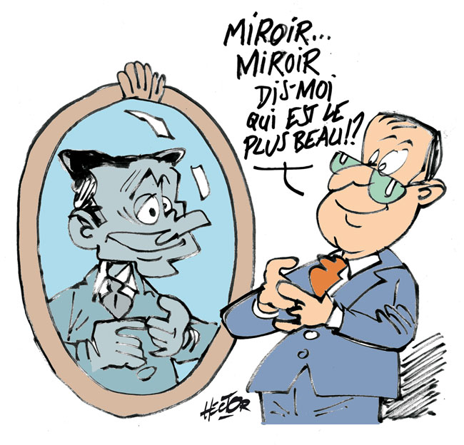 Hollande et son reflet le blog de r gis hector for Miroir qui se colle