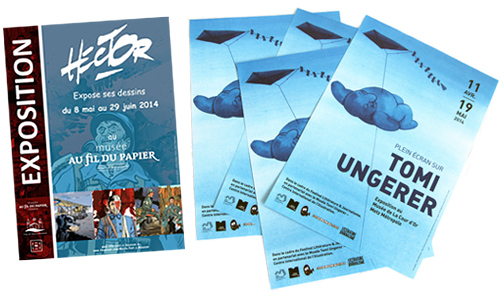 Affiches expo Ungerer et Hector
