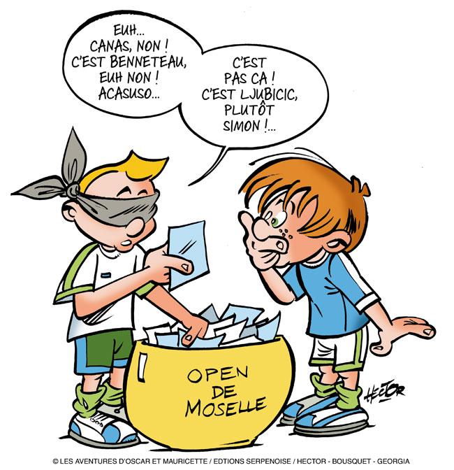 Oscar et mauricette envoy s sp ciaux l 39 open de moselle - Tirage au sort cadeau de noel ...